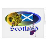 Collage escocés tarjeta