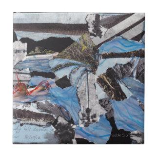 Collage estupendo de Sandy de la tormenta Azulejo Cuadrado Pequeño