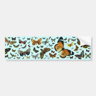 Collage europeo de la mariposa pegatina para auto
