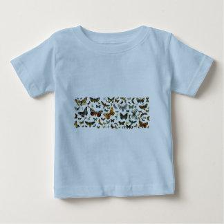 Collage europeo de la mariposa tshirts