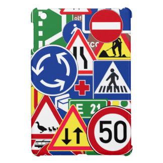 Collage europeo de las señales de tráfico iPad mini cárcasas
