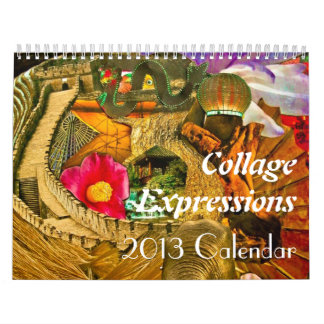 Collage Expressions -12 month Calendar
