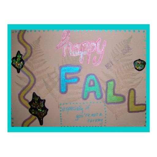 Collage feliz de la caída tarjetas postales