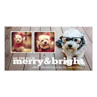 Collage feliz y brillante de la foto del inconform tarjetas fotográficas personalizadas