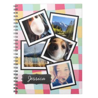 Collage femenino de la foto de Instagram de la div Libro De Apuntes Con Espiral