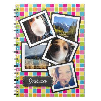 Collage femenino de la foto de Instagram de la rej Notebook