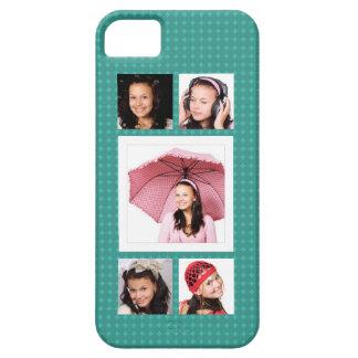 Collage femenino lindo de la foto del trullo 5 iPhone 5 Case-Mate funda