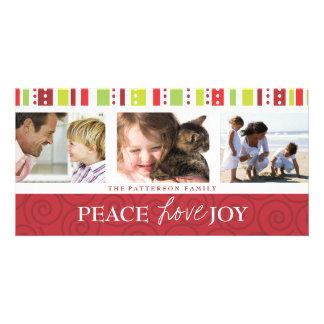 Collage festivo de la foto del remolino de la tarjetas fotográficas personalizadas