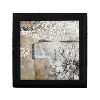Collage Fleur II Jewelry Box