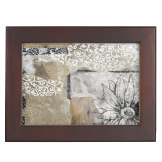 Collage Fleur II Keepsake Box