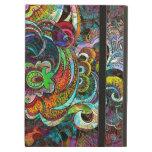 Collage floral abstracto colorido