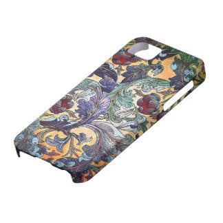 Collage floral abstracto retro colorido iPhone 5 coberturas