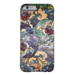 Collage floral abstracto retro colorido funda de iPhone 6 barely there