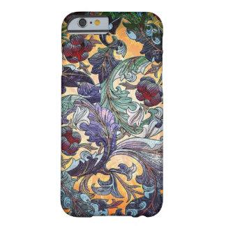 Collage floral abstracto retro colorido funda de iPhone 6 slim