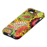 Collage floral al azar abstracto colorido iPhone 5 protectores