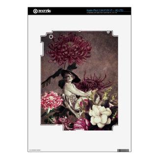 Collage floral de cristal de la mujer del vintage pegatina skin para iPad 3