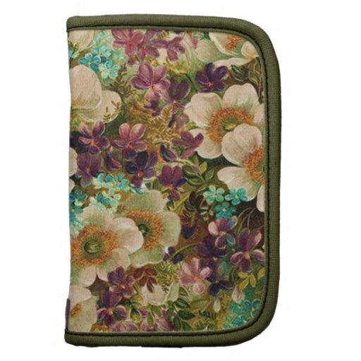 Collage floral de la antigüedad elegante lamentabl organizador