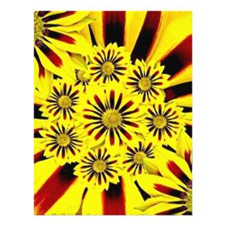 Collage floral del amarillo alegre brillante del tarjetones