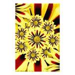 Collage floral del amarillo alegre brillante del v papeleria de diseño