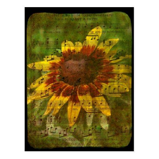 Collage floral del amor gitano tarjetas postales