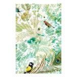 Collage floral del paisaje tarjetas informativas