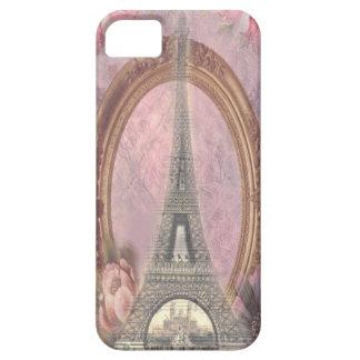 Collage floral del rosa elegante lamentable de la funda para iPhone SE/5/5s