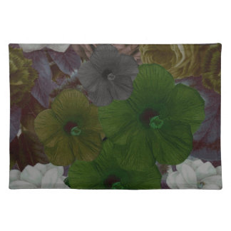 Collage floral del vintage mantel individual