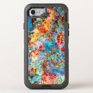 Collage floral del vintage sucio colorido funda OtterBox defender para iPhone 7