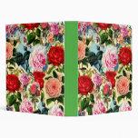 Collage floral elegante bonito de la rosaleda del