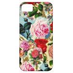 Collage floral elegante bonito de la rosaleda del  iPhone 5 Case-Mate cárcasa