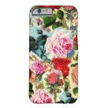 Collage floral elegante bonito de la rosaleda del funda de iPhone 6 barely there