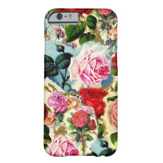 Collage floral elegante bonito de la rosaleda del funda para iPhone 6 barely there