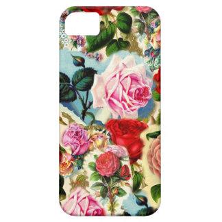 Collage floral elegante bonito de la rosaleda del iPhone 5 carcasa