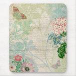 Collage floral Mousepad del vintage Alfombrillas De Ratón