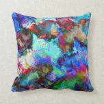 Collage floral prismático - almohada de tiro