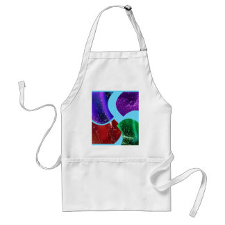 collage fluid,colorful abstract aprons