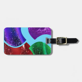 collage fluid,colorful abstract bag tags