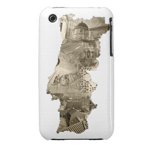 Collage fotográfico de Portugal iPhone 3 Case-Mate Cárcasa