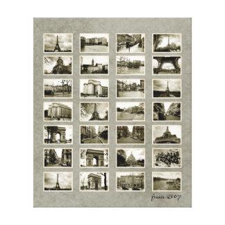 Collage francés de la foto impresión en lona