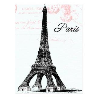 Collage francés de la torre Eiffel Tarjeta Postal