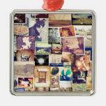 Collage fresco del inconformista del filtro de la adorno cuadrado plateado