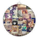 Collage fresco del inconformista del filtro de la  tabla dardos