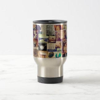 Collage fresco del inconformista del filtro de la tazas de café