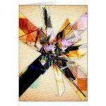 Collage geométrico abstracto felicitaciones
