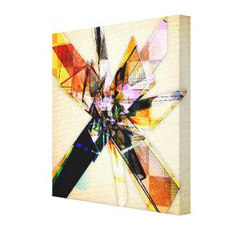 Collage geométrico abstracto impresiones en lienzo estiradas