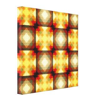 Collage geométrico colorido impresión en lona estirada