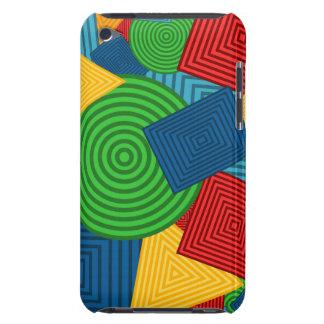 Collage geométrico de las formas colores brillant barely there iPod fundas