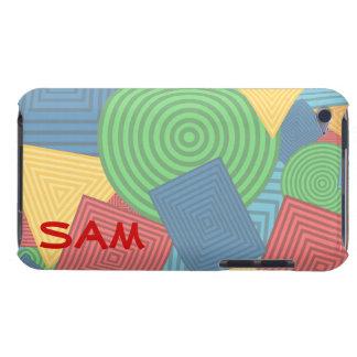 Collage geométrico de las formas colores brillant iPod touch cárcasa