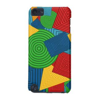 Collage geométrico de las formas colores brillant