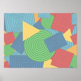 Collage geométrico de las formas (colores brillant póster